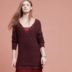 ANTHRO Knitted & Knotted Tunic Sweater